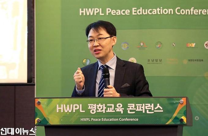 이은호 한국습관교육협회 이사가 19일 오후 서울시 서초구 양재동 더케이호텔에서 열린