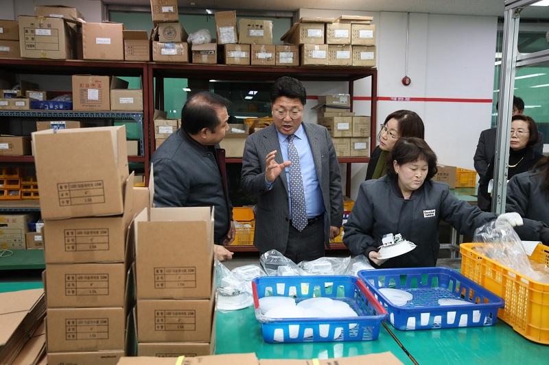 엄태준 이천시장, 장애인직업재활시설 양혜근로작업장 방문