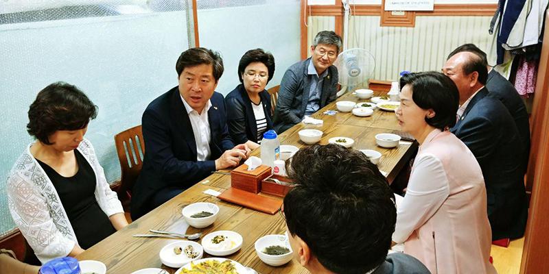 김수영 양천구청장, 황명선 최고의원(민) 후보 간담회 가져