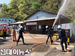 금호119안전센터, 윤동주 유고 보존 정병욱 가옥 합동소방훈련 실시