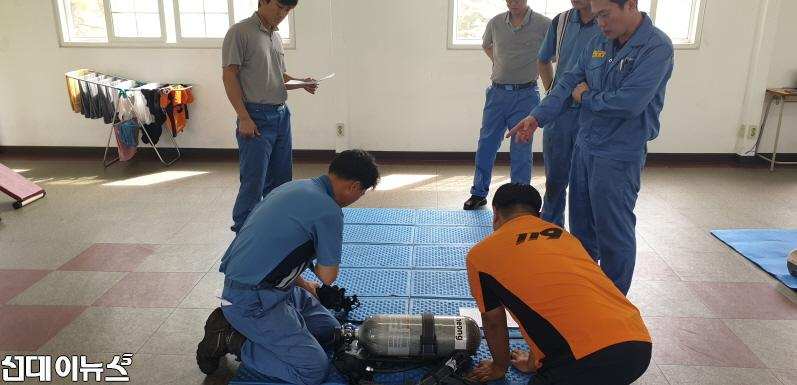 광양 금호119안전센터, 긴급상황 대처교육 실시