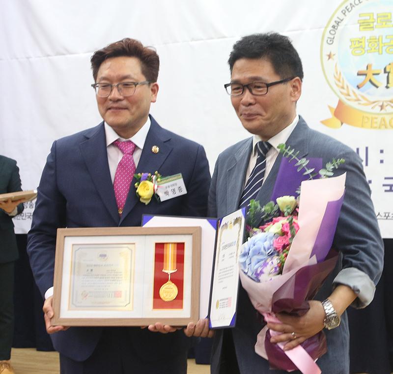 백종찬 탑tv한국방송 대표기자 '언론공헌' 대상 수상