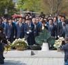 김경수 의원, '노무현 대통령 묘역 참배'경남도지사 출마선언 후 첫 행보