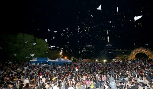[2018고양국제꽃박람회] 꽃씨담은 LED풍선과 비둘기 퍼포먼스