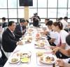 """문희상 국회의장, """"선수들의 선전으로 대한민국 통합의 역사 쓰여지길"""""""