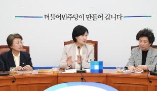 [SNS포토] 추미애 대표,'성차별해소를 위한 개헌여성행동' 간담회 참석