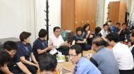 문희상 국회의장, 폭염 속 근무하는 국회 청소근로자 격려방문