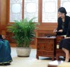 김정숙 여사, '랑가나탄' 주한인도대사 접견