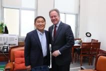 황주홍 위원장, 유엔세계식량계획 데이비드 비슬리 사무총장 면담