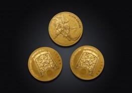 조폐공사, '지신 불리온 금메달' 국내 판매