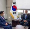 """안상수 경선후보-반기문 회동 """"대통령 되면 ESG 경영해 달라"""""""